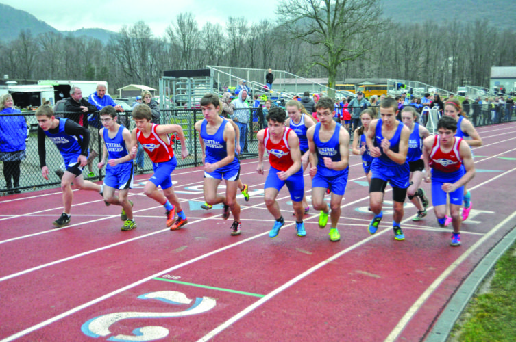 Central Mountain, Selinsgrove and St. Josephs met up at Central Mountain High School yesterday for a track and field meet. (For The Express/Phil Mapstone)