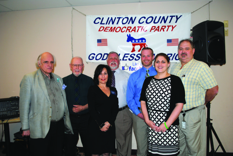 """Candidates in the May 16 Primary Election include, from left, Richard Morris (running for city council), Ted Forbes (city council), Judge Maria McLaughlin (Superior Court), Steve Stevenson (city council), Zach Hanna (coroner), Michelle Crowell (county treasurer) and Joseph """"Satch"""" SandersIII (district judge)."""