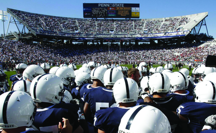 The Penn State University Nittany Lions football program kicks off their 2017 campaign today as they hold their annual Blue-White spring game at Beaver Stadium. Kick-off is scheduled for 3:00 PM, and can be viewed on the Big Ten Network. (AP Photo/Gene J. Puskar)
