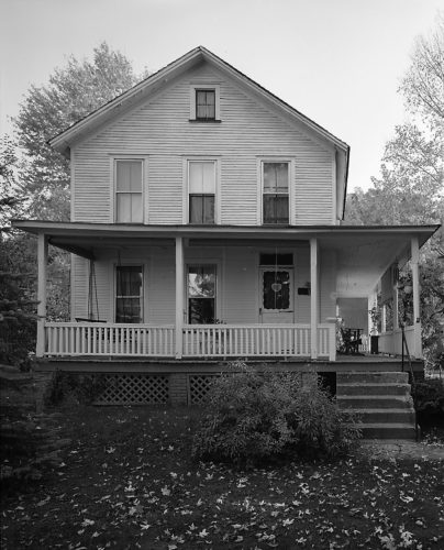 "PHOTO BY ROB TUCHER, FROM LIBRARY OF CONGRESS Historic house once stood in Lockport This is the Joseph A. Cummings House on Water Street (""The Front Road,"" closest to the water) in Upper Lockport. Express columnist Scott Williams lived in it with his parents, Leslie and Marjorie Williams, and siblings from the fall of 1962 until it was demolished in 1992 or 1993 for the Lock Haven flood protection project. The Library of Congress research shows this house as one of the oldest existing homes in Upper Lockport at the time, Williams tells us. The federal government sent in the Library of Congress to make a photographic record of the old, historic homes in Lockport, and then the federal government sent in the Army Corps of Engineers to tear them down, as he puts it. The house, according to reports, was built by a returning Civil War veteran. The government badge indicating the highest water level from the 1972 flood is directly above the railing post at the end of the front porch railing, Williams said. According to his parents, the level on the badge was at least a foot too low — the flood water was two stair steps from entering the second floor of the house. They and two of their children stayed in the house through the entire flood."