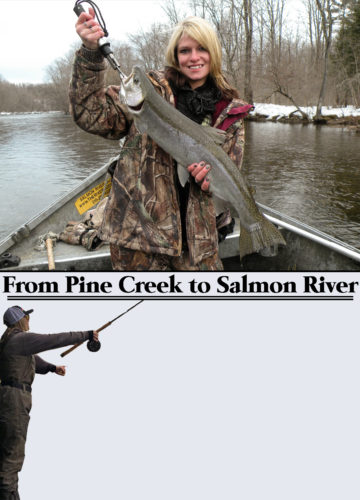 PHOTOS PROVIDED Miranda Ludwig shows off one of her trophy Steelheads.