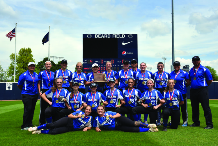 The Central Mountain High School Wildcats softball team traveled to Penn State University yesterday, where they won their fifth district championship in program history after defeating DuBois High School, 6-1. (The Express/Tim Weight)