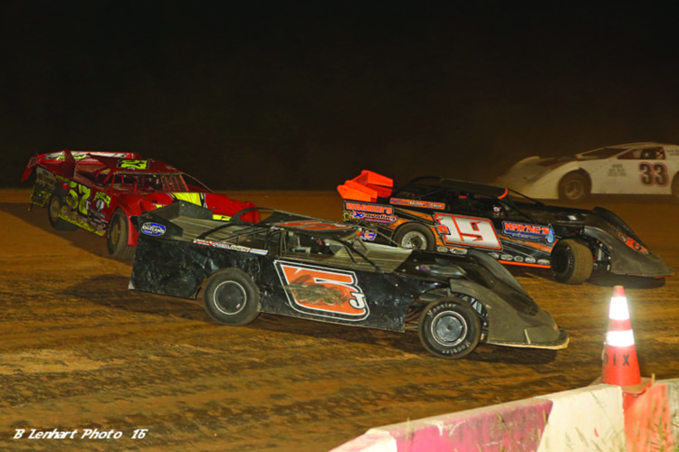 Jim Yoder won his second race in three weeks at Clinton County Motor Speedway over the weekend. More racing takes place this Friday. (Photo courtesy of Clinton County Motor Speedway)