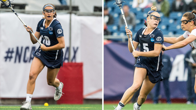 Junior Nittany Lions Katie O'Donnell and Maggie Gallagher of Penn State University Women's Lacrosse received all-tournament team honors. (Photo courtesy of Penn State Lacrosse)