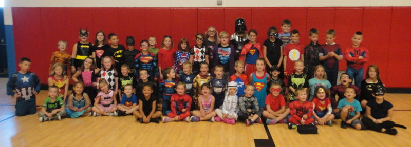 Lowell Elementary staff and students dressed as their favorite super hero to help fight childhood cancer on Friday, Sept. 16. Donations were made $1 or more and they got to dress up for the day. They raised $156 for BrAva, a local nonprofit organization that helps families that are stricken with childhood cancer.