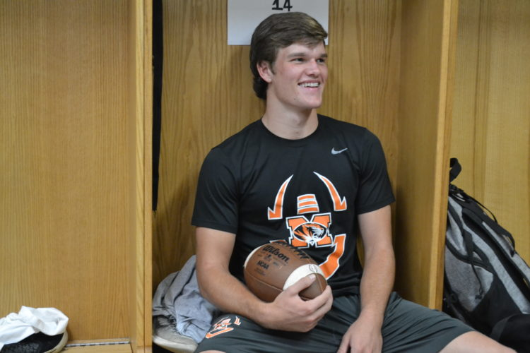 RON JOHNSTON The Marietta Times Marietta senior Isaac Danford is a four-year starter on the baseball team but is also a standout during football and basketball season.