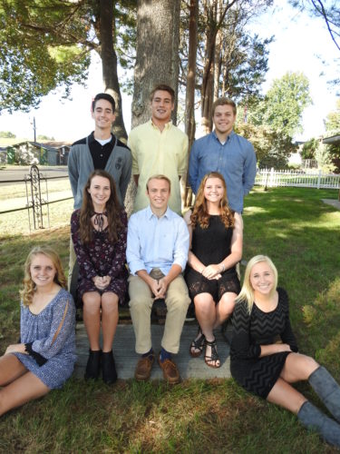Williamstown High School's homecoming court for 2016, back row, from left, Isaac Brown, Trevor Hoosier and Josh Folwell; middle row, from left, Kailey Morgan, Jonathan Petty and Sydney Palmer; bottom row, from left, Ellie Gardner and Ally McMullen. The king and queen will be crowned during halftime ceremonies Friday, Oct. 21.