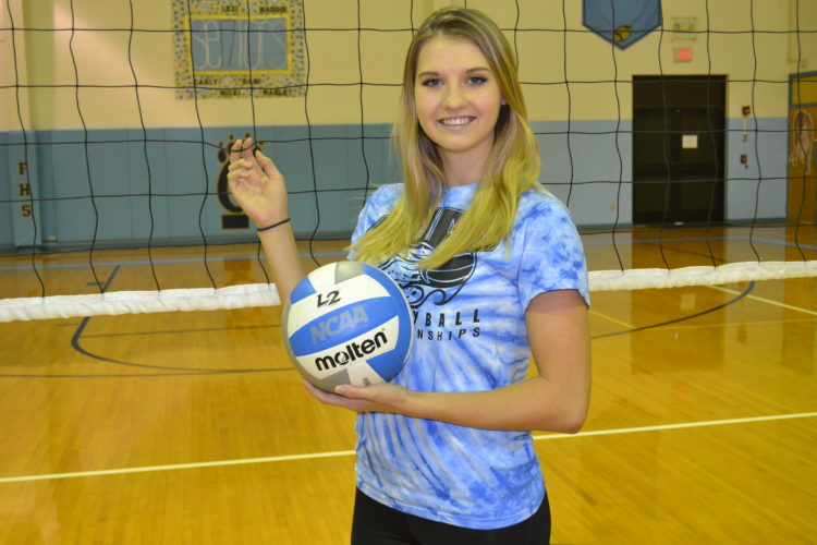 RON JOHNSTON The Marietta Times Frontier senior Lexi Brookover is a key contributor on the volleyball team but is also a standout in basketball and softball.