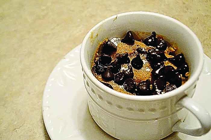 Photos by Breckin Wells  Three-minute Vegan Peanut Butter Mug Cake.