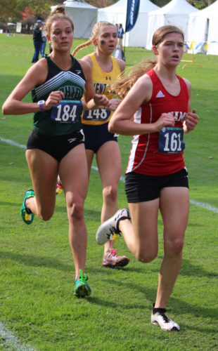 Courtesy photo Ohio University's Maddy Sury (184) competes during a college cross country event during the fall.