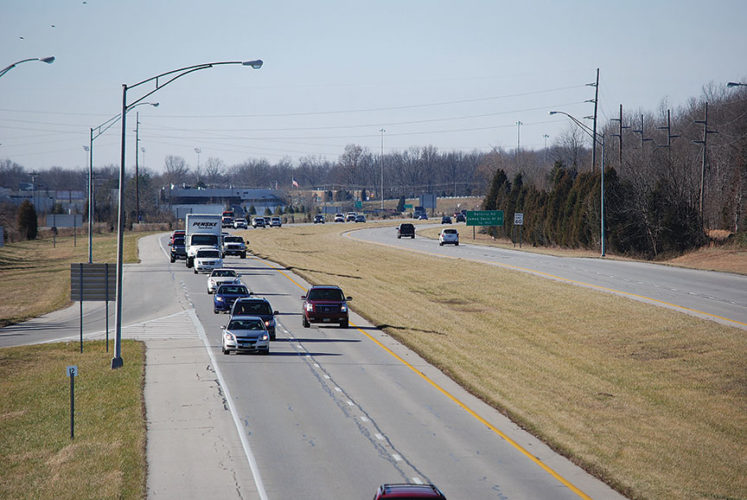 Traffic on the Cincinnati end of Ohio 32 often is congested near the city.