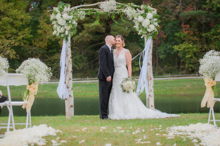 Photo by Hanson Enhancements  of Matt and Ricci Bailey's  wedding in October 2016.