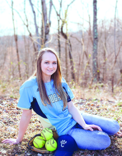Courtesy photo Frontier senior Nikki Haught has excelled in volleyball and basketball for the Lady Cougars, but her favorite sport to play is softball. Haught is Frontier's starting shortstop.