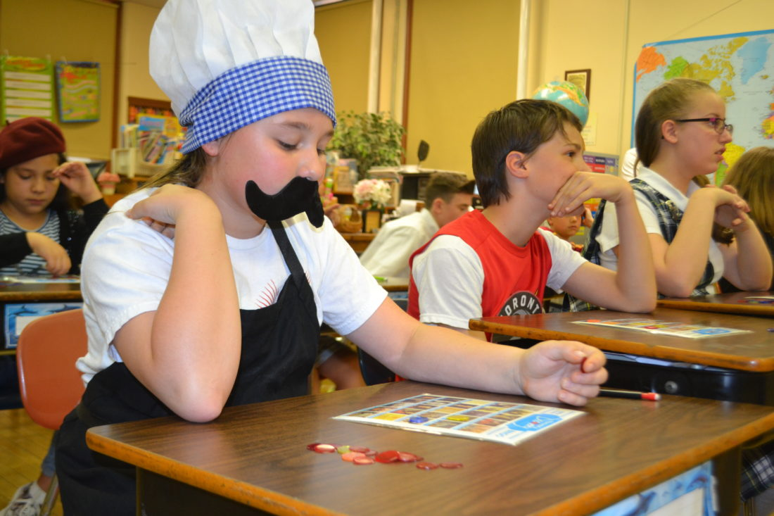 PEYTON NEELY   The Marietta Times Katelyn Schenkel, 10, from St. Mary School, dressed as a cook from Italy for school spirit week on Thursday celebrating Catholic Schools Week.