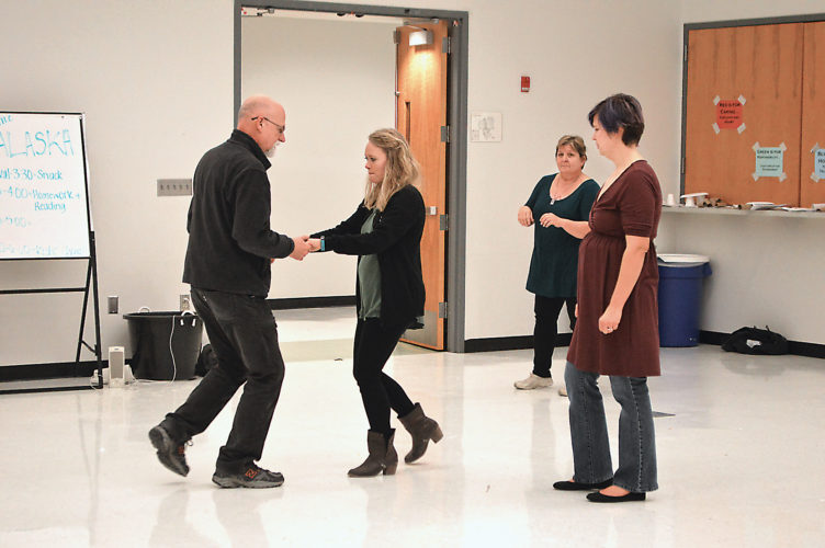 Area residents learned some of the basics of swing dancing during their first session of a class that kicked off Jan. 12 at the Marshall Area YMCA. Darwin Dyce and Rachel Dubbeldee practiced steps while Megan Reynolds, at right, offered instruction.