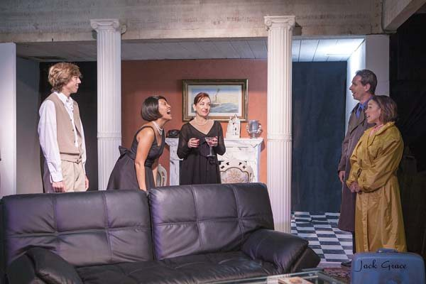 "JACK GRACE photo Elisha Cullins (from left), Hoku Pavao, Jennifer Rose, John Williams and Patty Silva star in ""The House of Yes."""