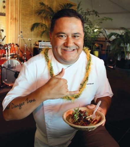 Ben Marquez of Ka'ana Kitchen at Andaz Maui won the professional chef category at the Maui Fair Chili Cook Off. The Maui News / CARLA TRACY photo