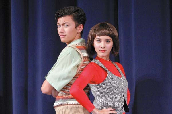 Tehoni Naeole and Mariana Kaniho star in Kamehameha Schools Maui Drama Club's latest production. RAVEN YAMAMOTO photo