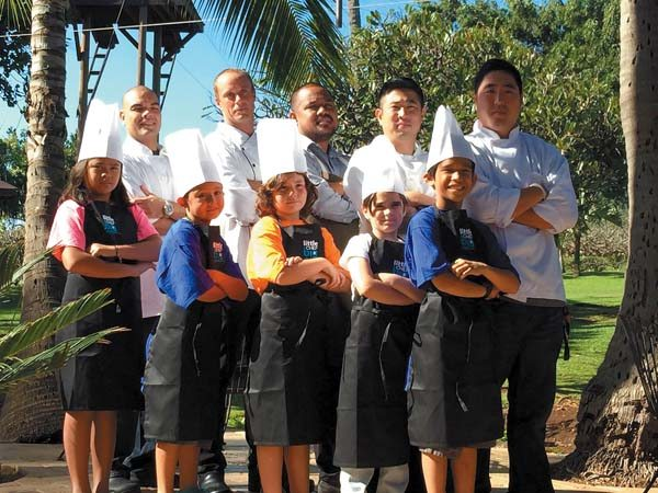Participants of 2015 Little Chef Big Chef held at the Yokouchi Estate in Wailuku • Friday; photo provided by Boys and Girls Club.