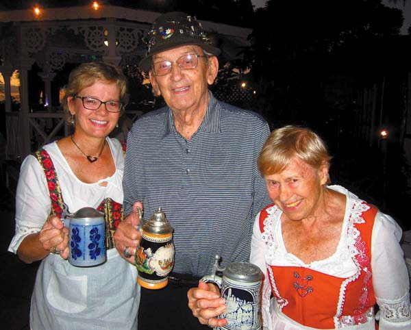 Lahaina – Ute (from left), Richard and Ingrid Finch partake in the festivities at the fifth annual Oktoberfest hosted by the Lahaina Sunrise Rotary Club on Oct. 6 at the Pioneer Inn; photo provided by Ute Finch.