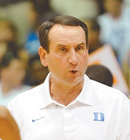 Mike Krzyzewski, shown at the Maui Jim Maui Invitational in 2011, has coached Duke to five titles on the Valley Isle. The Maui News / MATTHEW THAYER photo