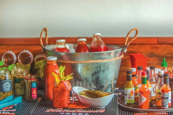 Tito's Bloody Mary Bar has debuted at the new Pint & Cork in The Shops at Wailea and will run weekends. Watch the game on a number of TVs and eat from shrimp 'n' grits to pork adobo loco on the weekend brunch menu.  Pint & Cork photo