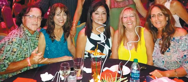 Waikapu – Guthrie Franco (from left), Laurie Oana, Debbie Liu, Cindy Fernandez and Judy Antone attend Saturday's Taste of Asian Blend event at King Kamehameha Golf Club; photo provided by Cindy Fernandez.