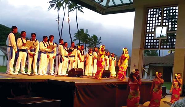 Kamehameha Schools Maui Hawaiian Ensemble • Today; photo courtesy Karee Carlucci/Lahaina Restoration Foundation.