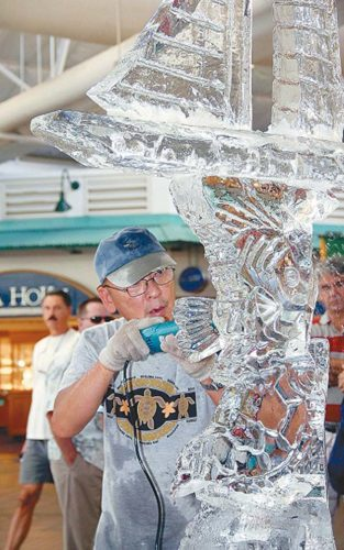 Ice sculpting • Saturday and Sunday at Lahaina Cannery Mall.