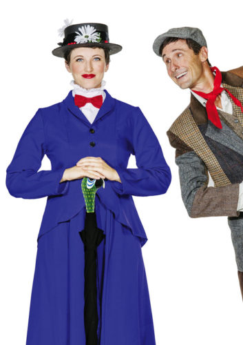 "Sara Jelley and Chris Kepler star in ""Mary Poppins: The Broadway Musical."" BRETT WULFSON photo"