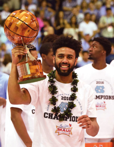 Joel Berry II totaled 54 points, 12 rebounds and 11 assists for North Carolina in three Maui Invitational games. The Maui News / MATTHEW THAYER photo