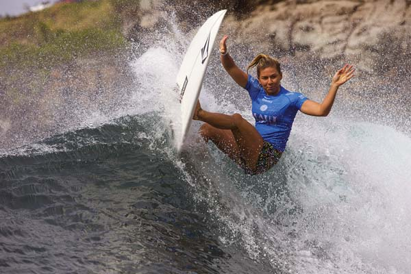 Oahu's Coco Ho competes in the third round of the Maui Pro on Friday afternoon at Honolua Bay.  World Surf League / DAMIEN POULLENOT photo