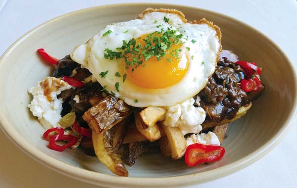 The Shearwater Tavern will open in the former Stella Blues this month  with posole beer braised oxtail poutine, a take on the wildly popular Canadian dish.  The beer lineup will change on a regular basis as in other gastropubs. DK Restaurant Group photo