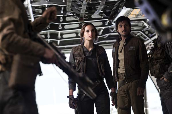 "Felicity Jones and Diego Luna star in ""Rogue One: A Star Wars Story."" Lucasfilm Ltd. photo via AP"