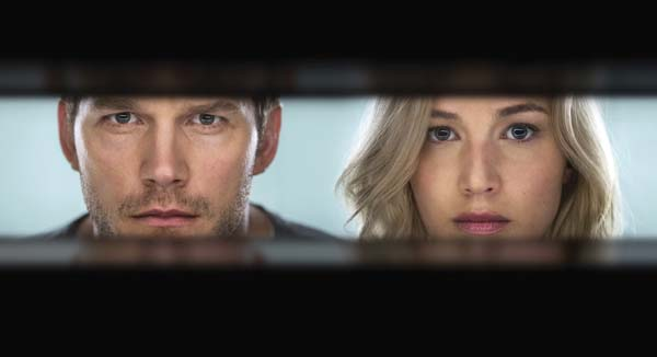 "Chris Pratt and Jennifer Lawrence star in ""Passengers."" Columbia Pictures/Sony photo via AP"