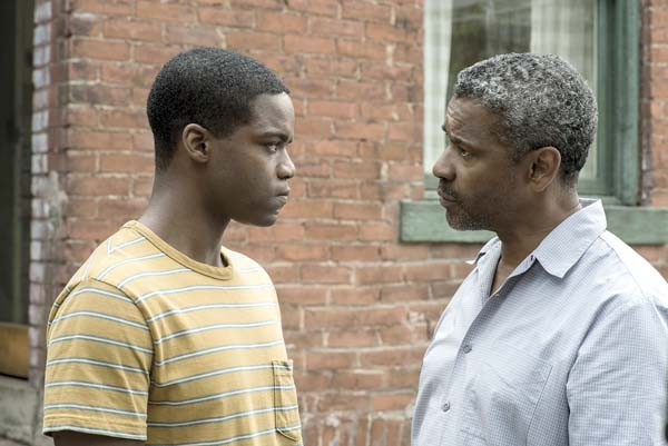 "Jovan Adepo and Denzel Washington star in ""Fences"" Paramount Pictures photo via AP"