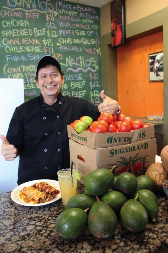 Nachos Grande Chef Miguel Reyes makes everything from scratch including his enchiladas and salsas and guacamoles from fresh Kula-grown tomatoes and avocados. CARLA TRACY photo
