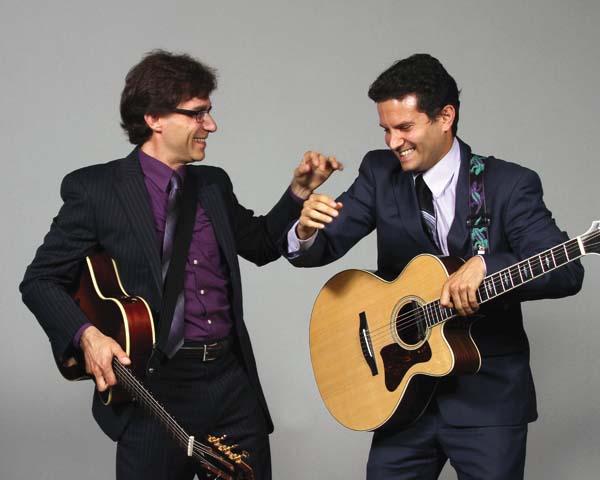 Guitarists Frank Vignola (left) and Vinny Raniolo • Wednesday, photo courtesy Maui Arts &Cultural Center.