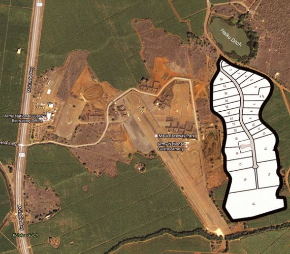 The Pulehunui Industrial Park is Maui's first and only heavy industrial-zoned subdivision. Lots range from a half acre to 15 acres. The subdivision is part of the state's Pulehunui Master Plan project. The project, introduced in 2012, originally called for light industrial, business and commercial activities as well as heavier industrial activities farther away from Mokulele Highway. Commercial Properties of Maui photo and Google Maps
