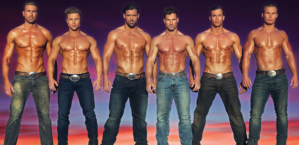 """""""Thunder from Down Under,"""" an all-male revue show based in Las Vegas, is widely known for its male dancers who, according to its website, are """"showing off chiseled bodies, seductive dance routines, cheeky humor and boy-next-door charm."""" Thunder from Down Under photo"""