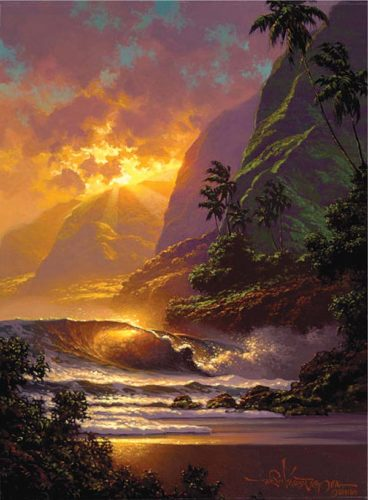 """""""Spill of the Evening Light"""" by Roy Tabora, featured artist at the upcoming """"Art of Aloha.""""  Photo courtesy Lahaina Galleries"""