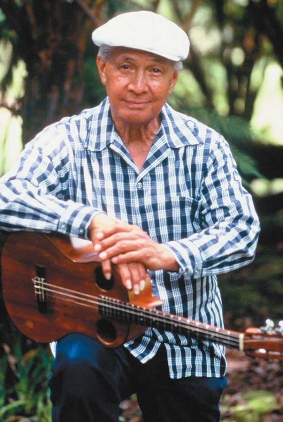 Musician Eddie Kamae, who died Saturday at age 89, spent time on Maui visiting family and met his wife, Myrna, in West Maui in 1965. Hawaiian Legacy Foundation photo