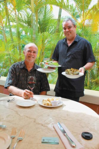 Longhi's Wailea General Manager Michael Rose (left) has been with the company for a long time and lead daytime server Noel Ellis has made a few years at the popular restaurant. In the month of January, enjoy $40 dinners of four courses of famous '70s fare at Longhi's Wailea and the original Longhi's Lahaina location. The Maui News / CARLA TRACY photo