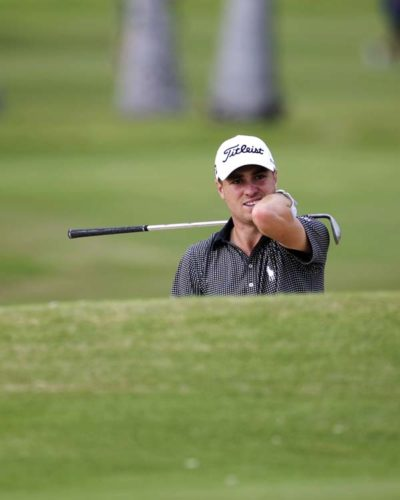 Justin Thomas, shown Sunday on his way to winning the Sony Open, is the second player to sweep the PGA Tour's two Hawaii events. AP photo