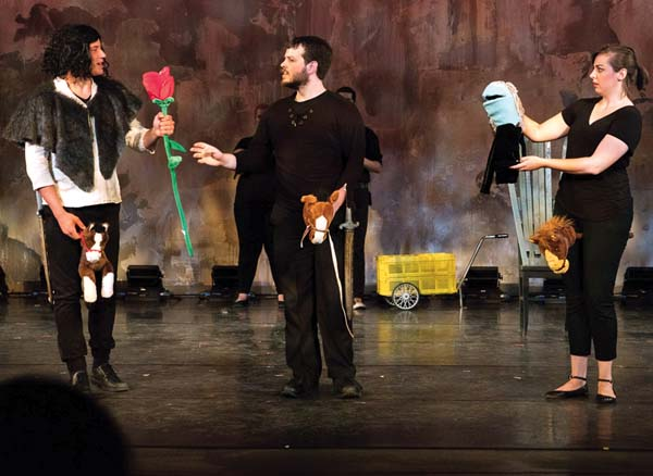 "Considine's play, ""Game of Thrones: The Musical,"" features puppets. Photo courtesy the artist"