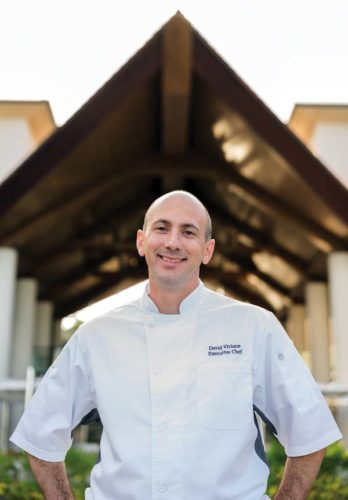 Montage Kapalua Bay Executive Chef David Viviano will wow lovebirds with feasts for the senses at the Cliff House and at the signature Cane & Canoe. Montage Kapalua Bay photo