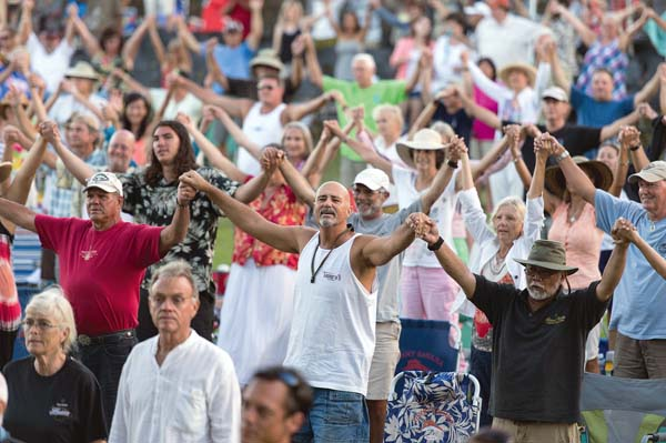 Audience members enjoy an event at the Maui Arts & Cultural Center in Kahului. AUBREY HORD photo