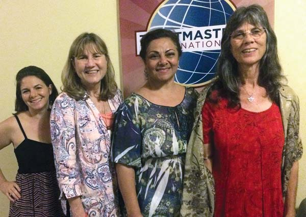 Newly installed Kihei Toastmasters Club President Cara Flores (from left) is shown with other officers Ann Elaine Johnson, Farima Joya and Rita Massey at the Jan. 17 swearing-in ceremony.