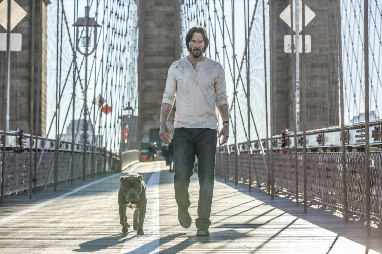 "This image released by Lionsgate shows Keanu Reeves in a scene from, ""John Wick: Chapter 2."" • (Niko Tavernise/Lionsgate via AP)"