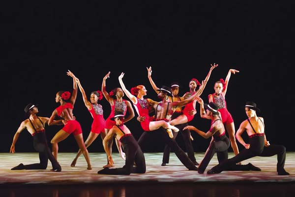 "Ailey II dancers appear in ""Sketches of Flames."" Kyle Froman photo"